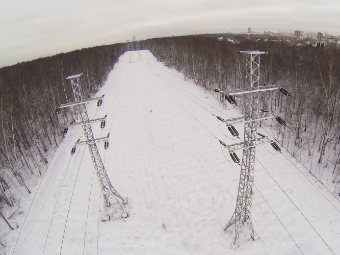 Infrastructure, power lines, telephone lines, inspection