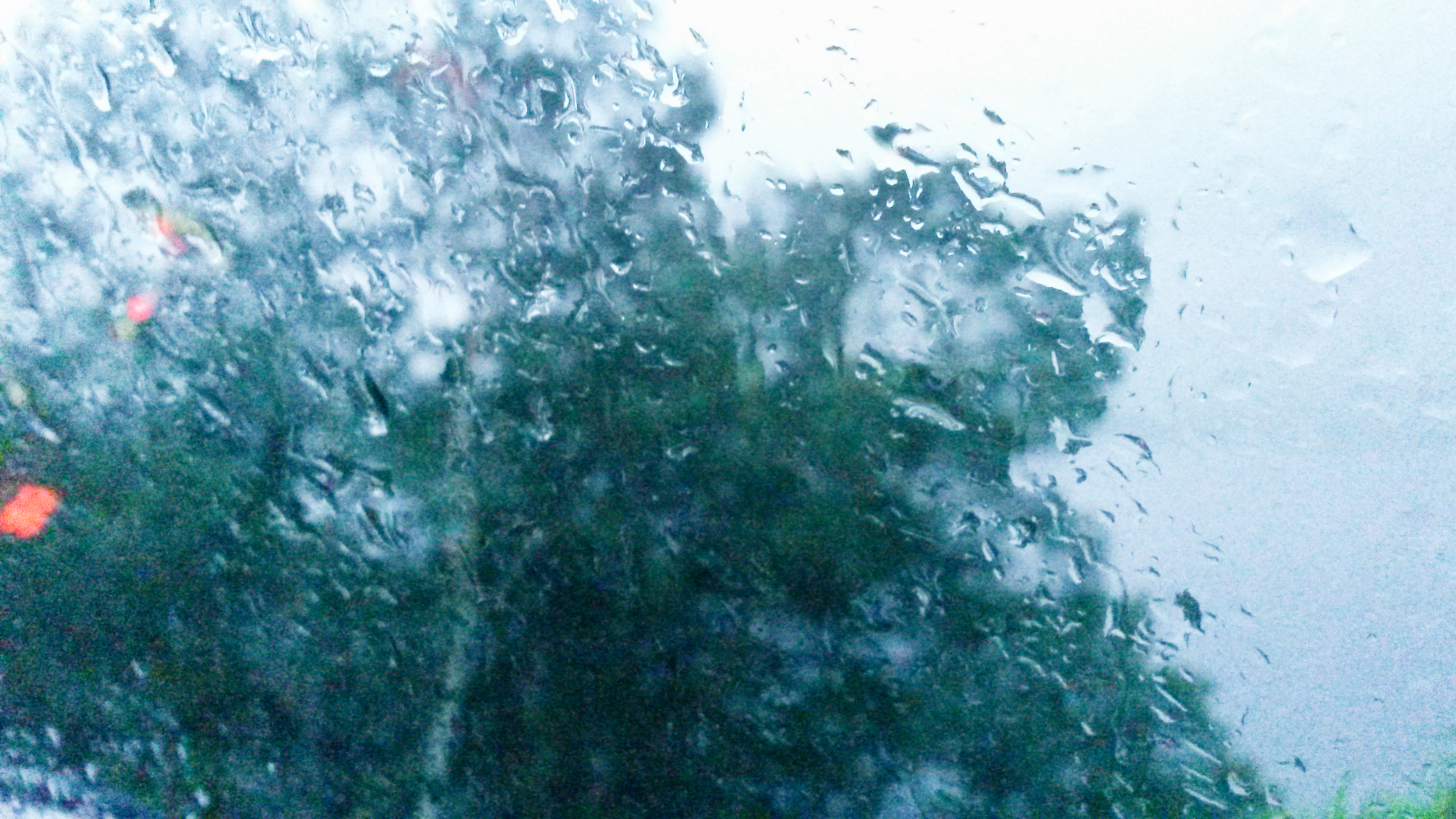 Rain on the car window at Buttermere