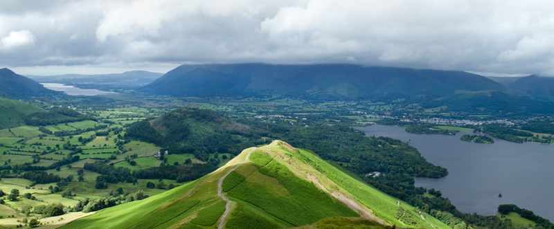 Sunlight on the Catbells, Keswick