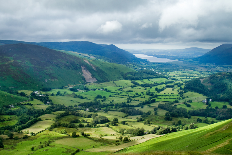 Bassenthwaite Lake from the Catbells, Lake District