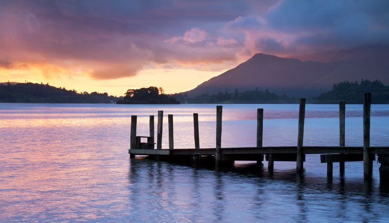 Golden Glow at Ashness Pier, Derwent Water
