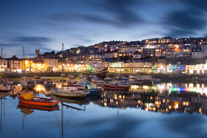 Evening Reflections, Brixham Harbour