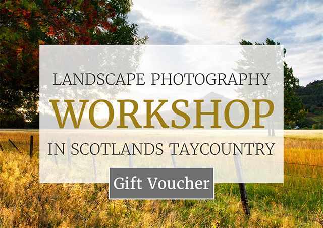 To coincide with the launch of my 2019 landscape photography workshop schedule I'm now happy to introduce my new workshop gift vouchers!  This is a brilliant opportunity to join in with my Weekend Waterfalls Workshops at Dunkeld Hermitage or my Bluebells of Kinclaven Workshop.  Gifts like this are a great opportunity to give your loved ones an special, unique and unforgettable experience.