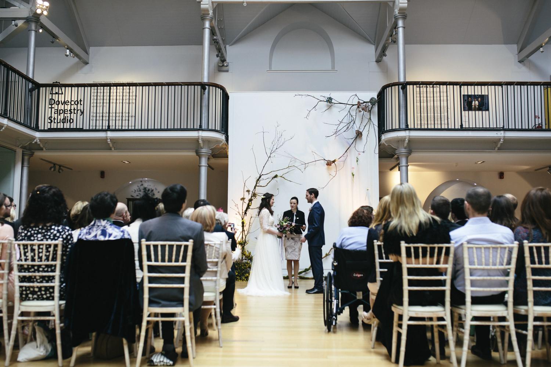 Quirky Wedding Photography Edinburgh Dovecot Studios 047.jpg