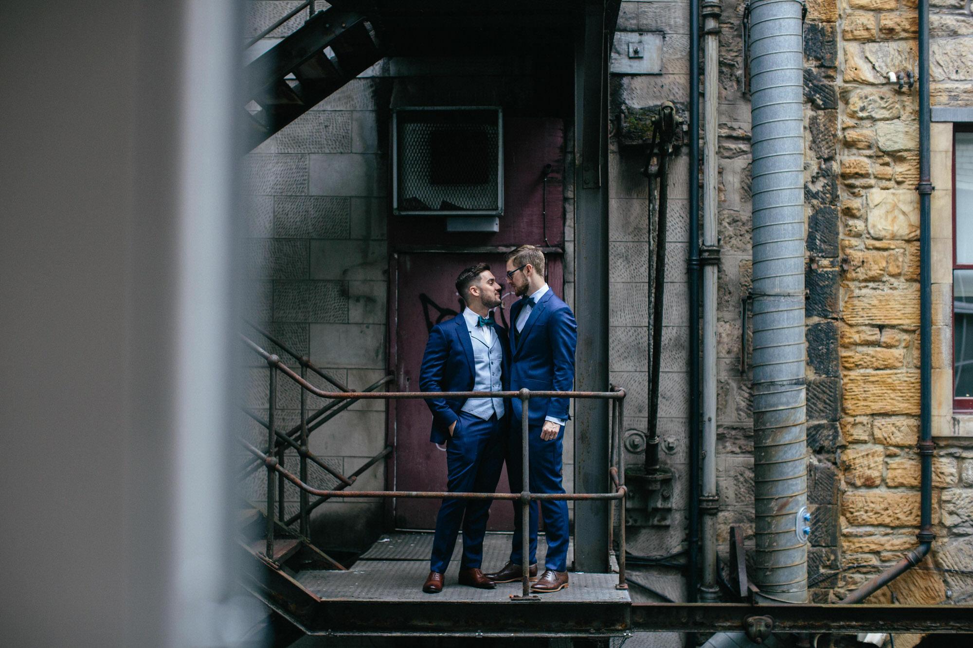 Alternative Same Sex Wedding Photography Scotland Glasgow Drygate 013.jpg