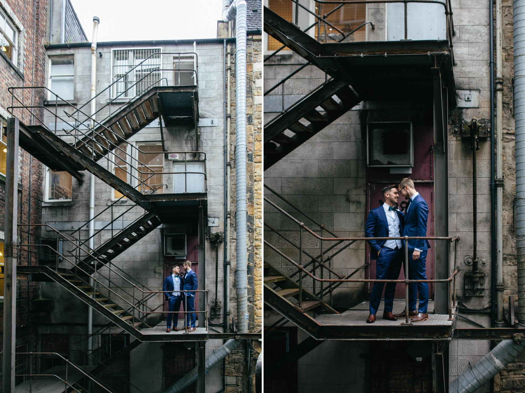 Alternative Same Sex Wedding Photography Scotland Glasgow Drygate 014.jpg
