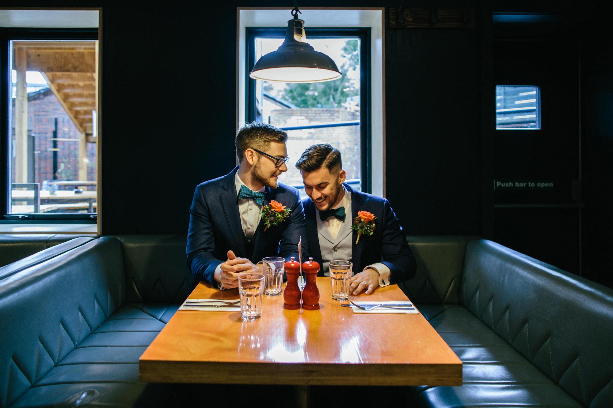 Alternative Same Sex Wedding Photography Scotland Glasgow Drygate 030.jpg