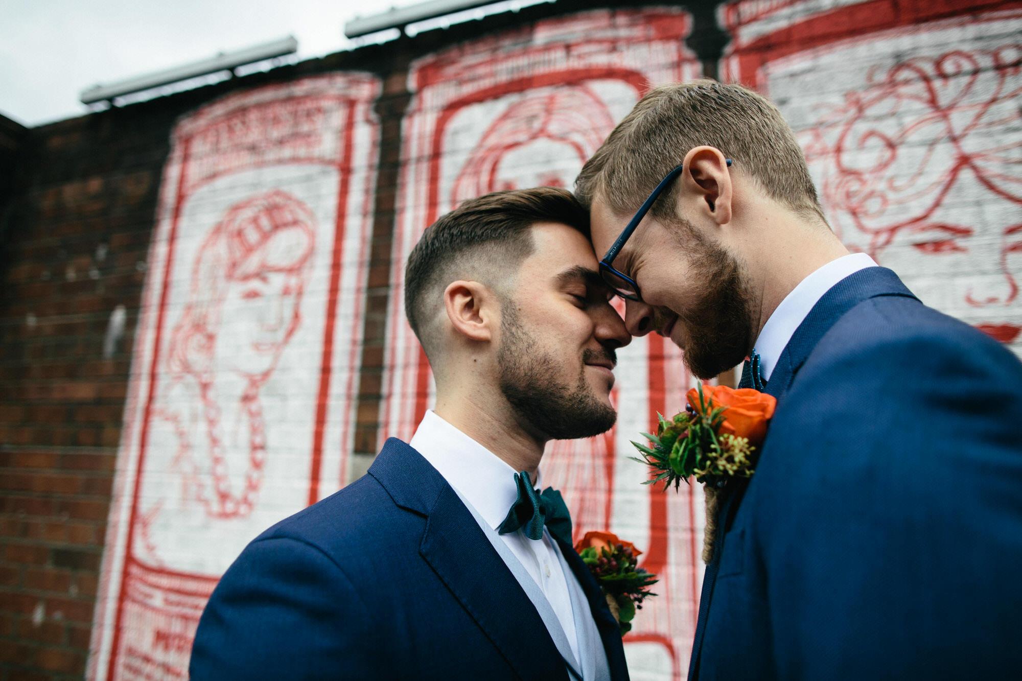 Alternative Same Sex Wedding Photography Scotland Glasgow Drygate 045.jpg