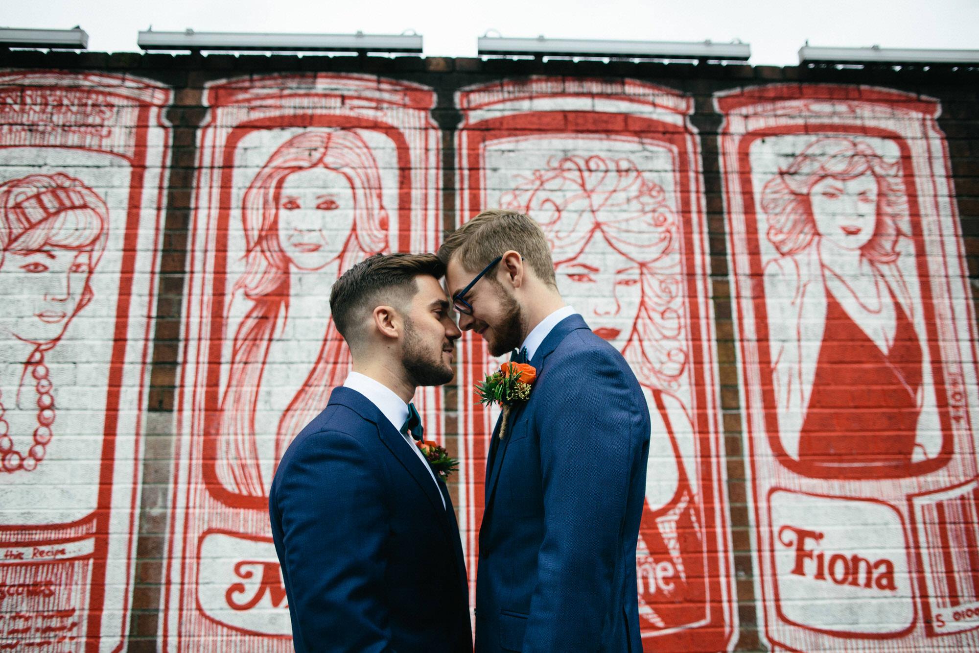Alternative Same Sex Wedding Photography Scotland Glasgow Drygate 046.jpg