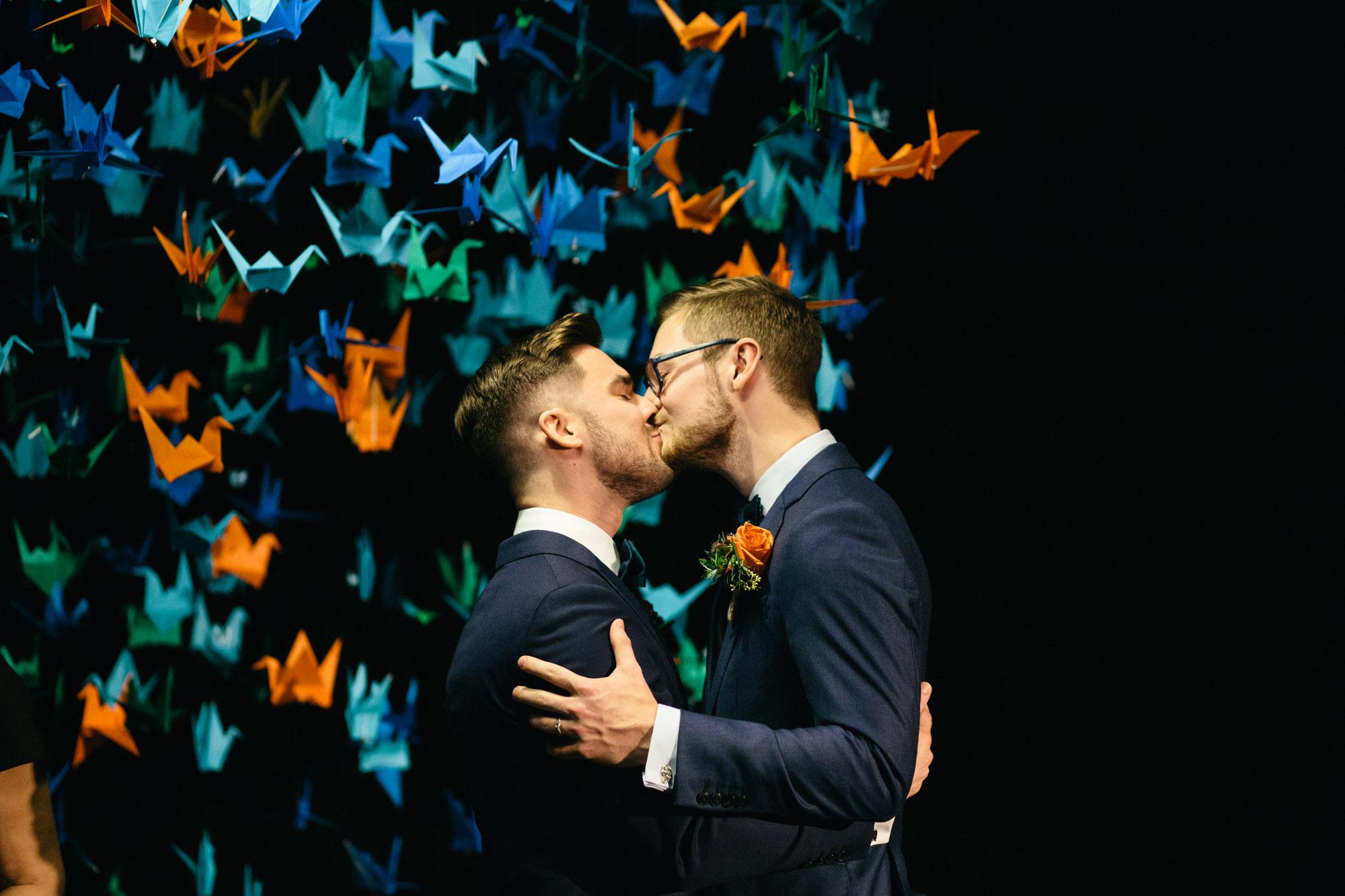 Alternative Same Sex Wedding Photography Scotland Glasgow Drygate 096.jpg