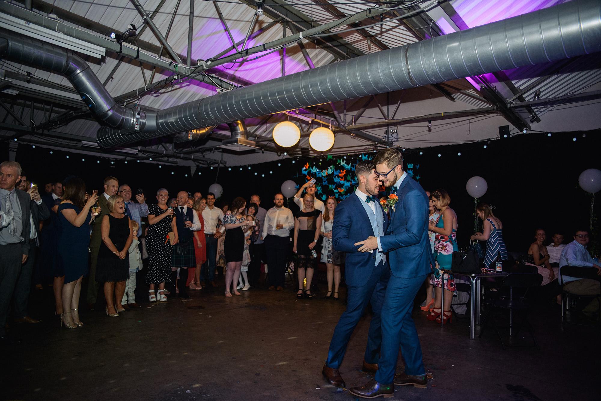 Alternative Same Sex Wedding Photography Scotland Glasgow Drygate 129.jpg