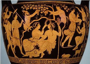 The celebration of the harvest dedicated to Apollo, in Athens 5th century B.C.
