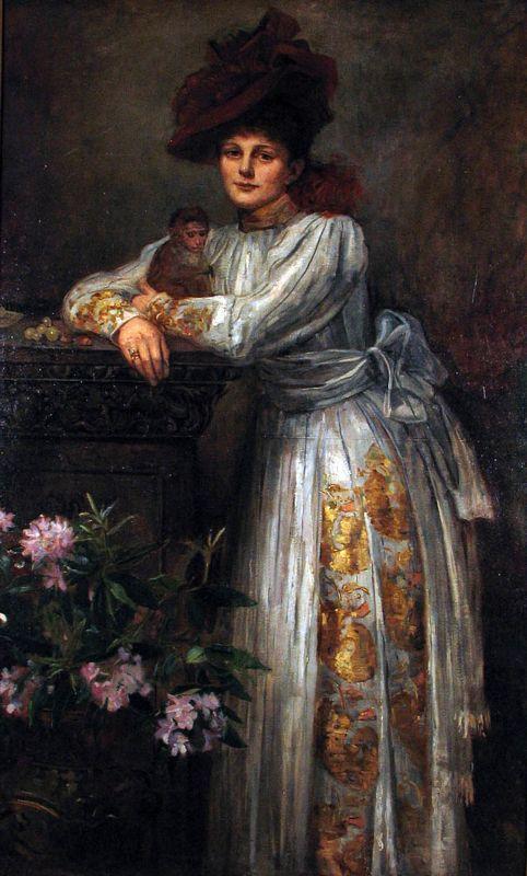 Miss Maud Gonne , 1890,Sarah Purser, Dublin City Gallery