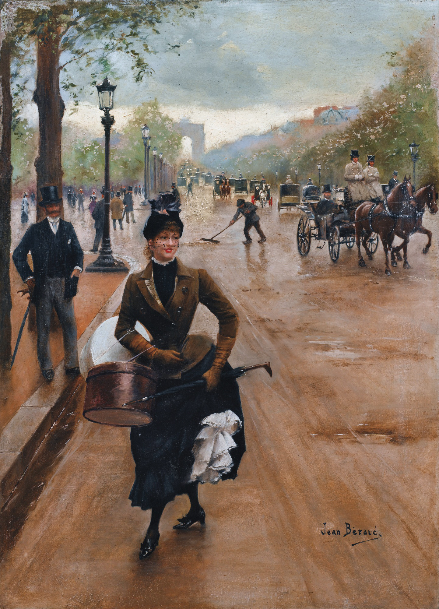The Milliner on the Champs-Elysées, Jean Béraud, date unknown