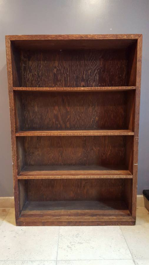Beautiful wooden bookcase - handcrafted - $100