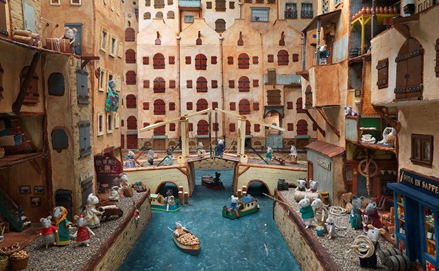 Did you know there are canals in the Mouse Mansion? #canals #fishing #bridge #boat #ship
