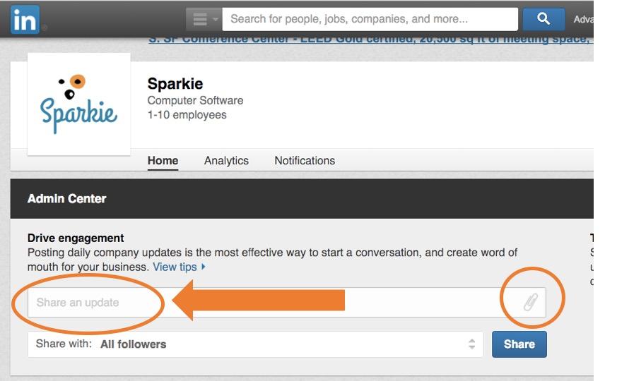 Page Updates on LinkedIn
