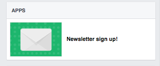 We hooked up our email newsletter (from mailerlite) to our facebook page - this way someone can sign up directly for our newsletter from fb
