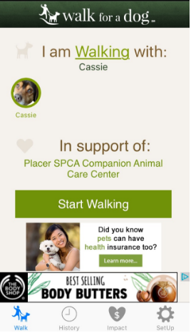 you can also add if you are walking with anyone, like your dog