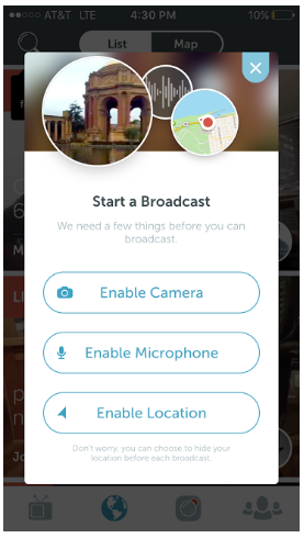As a user on Periscope itself, you (and your rescue)get your own channel in which you can make your broadcasts public or private. Live streams can be found by any user (if set to public) and they can interact with it by sending comments, hearts, or sharing other stations. In addition, it will notify current followers once you go live.