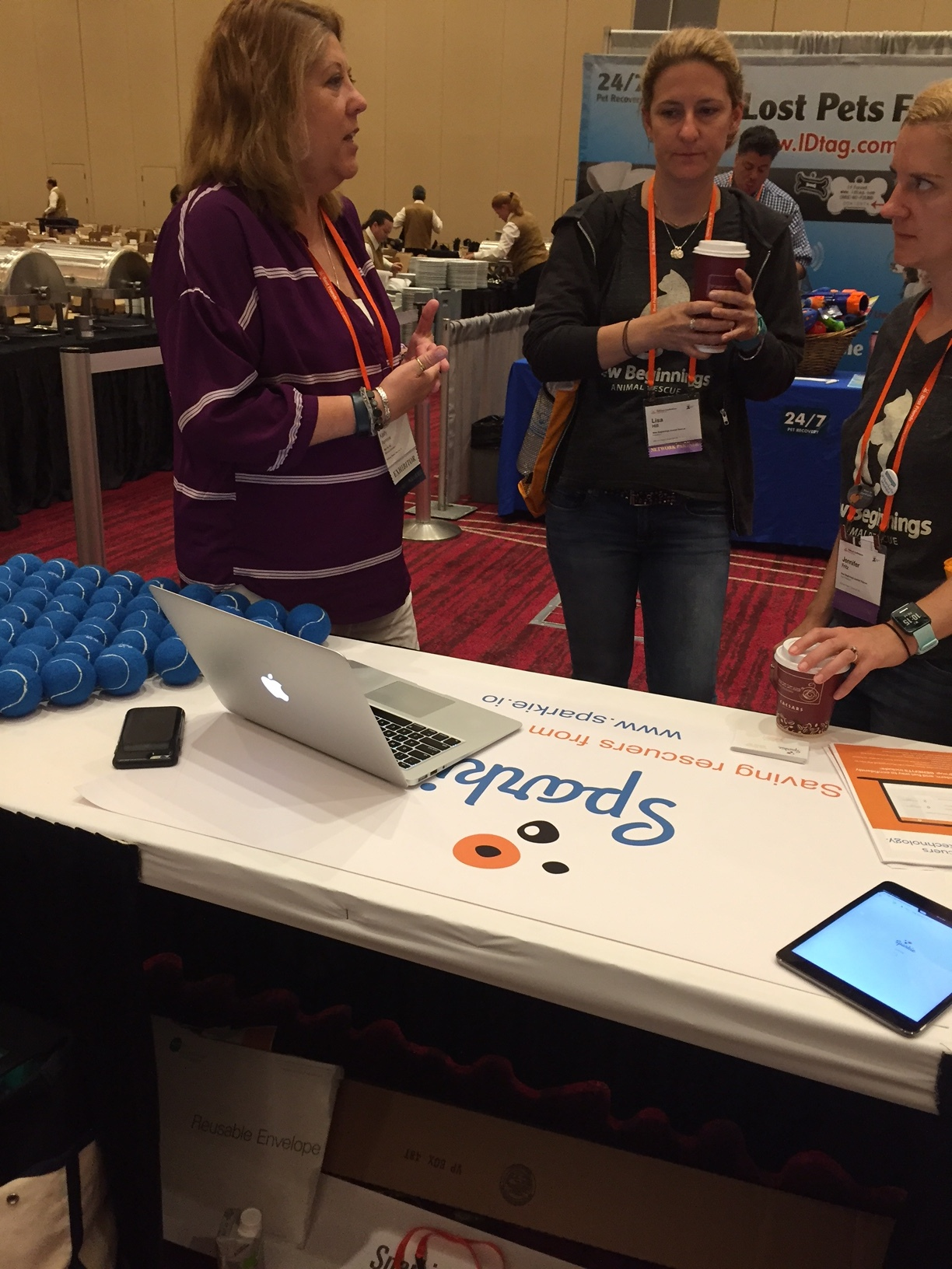 Here Kelly rocks a demo of Sparkie to rescuers from Michigan! We were amazed by the levels and diversity of attendance at the conference, as well as its professional set up!
