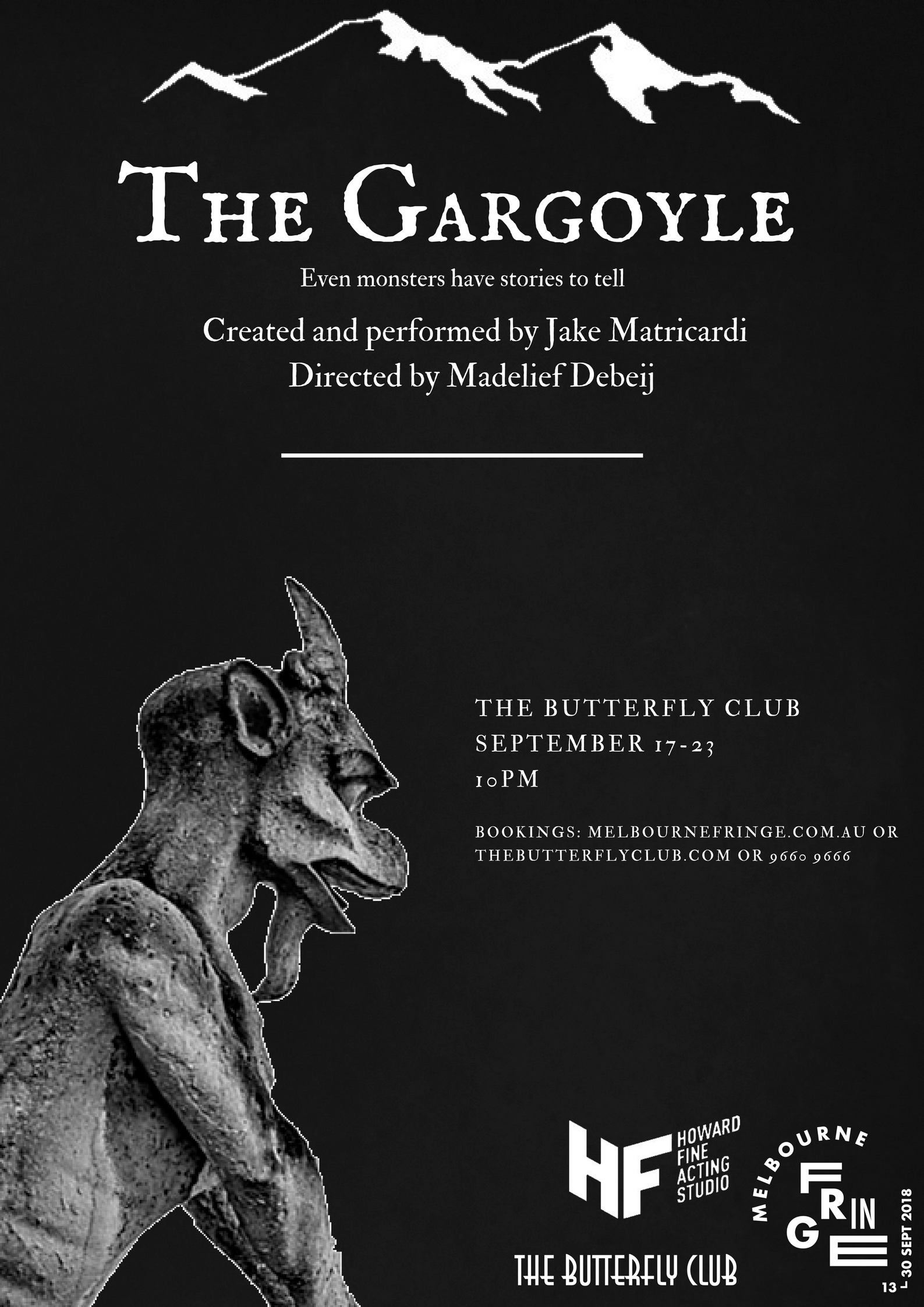 The Gargoyle  - poster designed by Jake Matricardi.