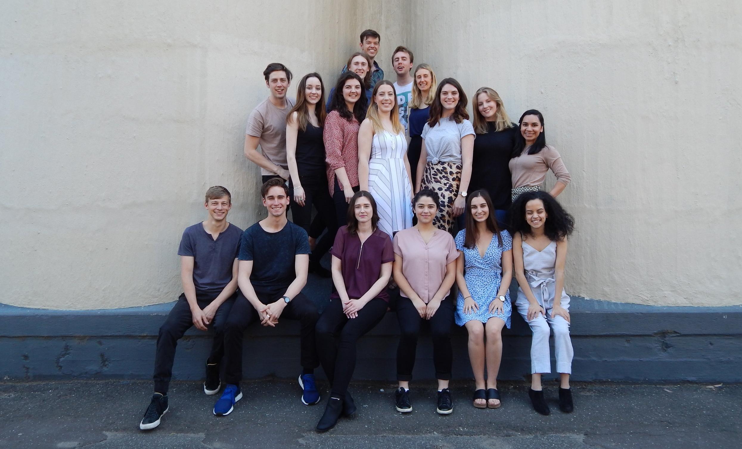 The Howard Fine Acting Studio Australia 2018 Full Time ensemble.