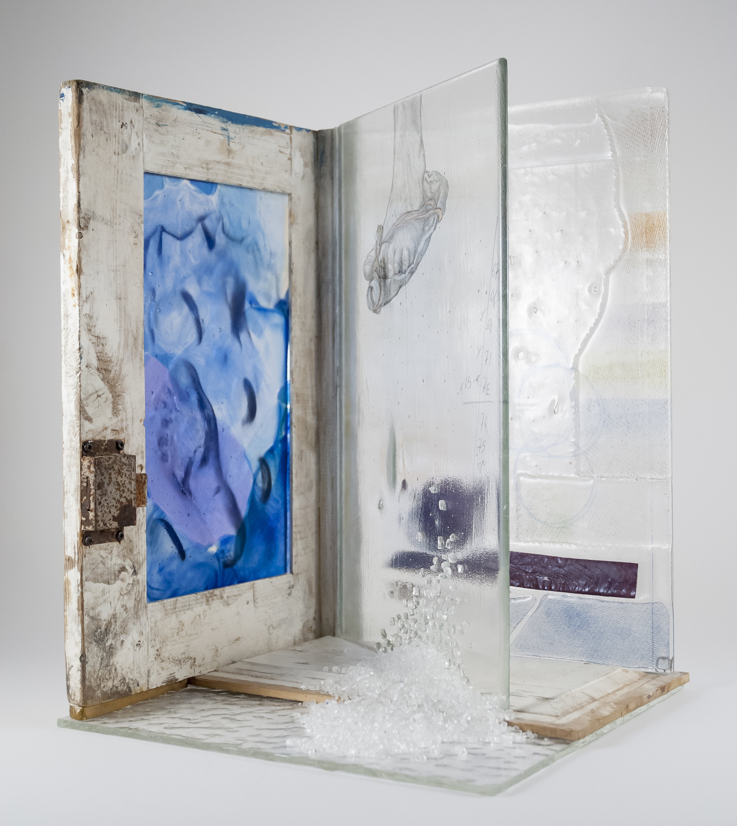 Glass, wood cm. cm. 34 x cm. 31 h.cm. 46