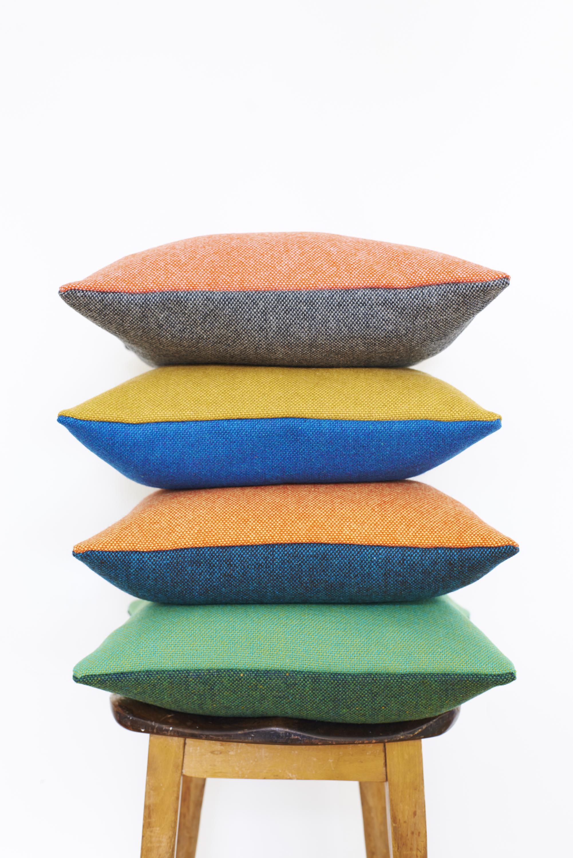 Lane – Twin Tone Tweed Cushions 02 – James Gardiner