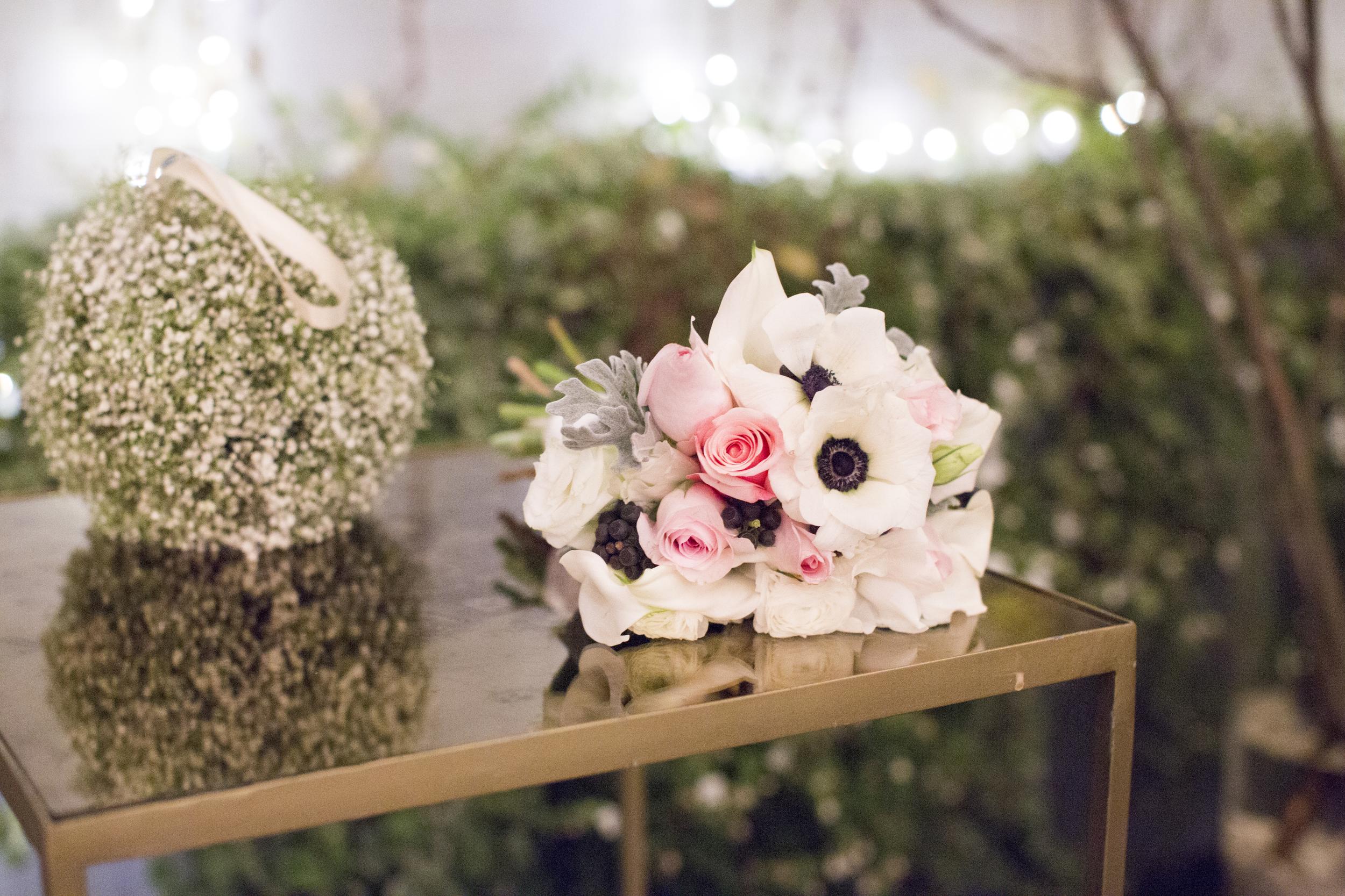 white anemone wedding