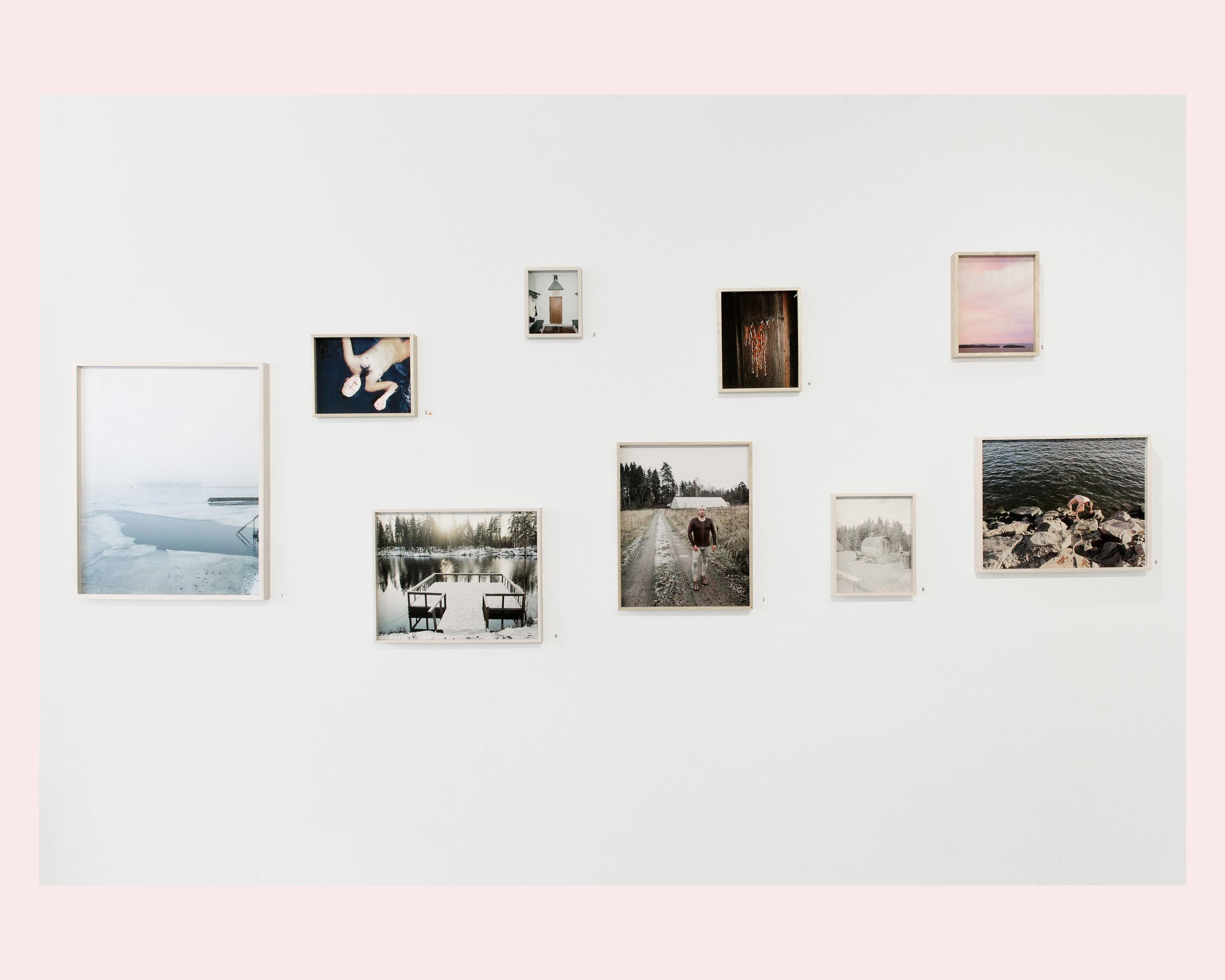 Exhibition view from Sauna Folk series.
