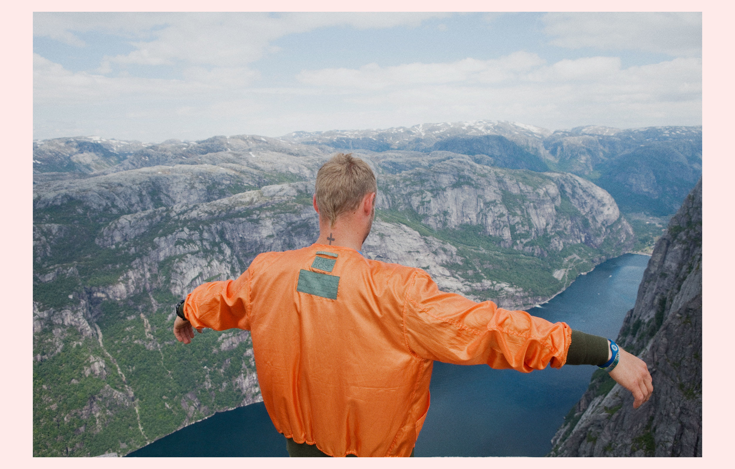 Wingsuit flyers, part documentary fashion story for Code (NL).  Style by: Mark McMahon