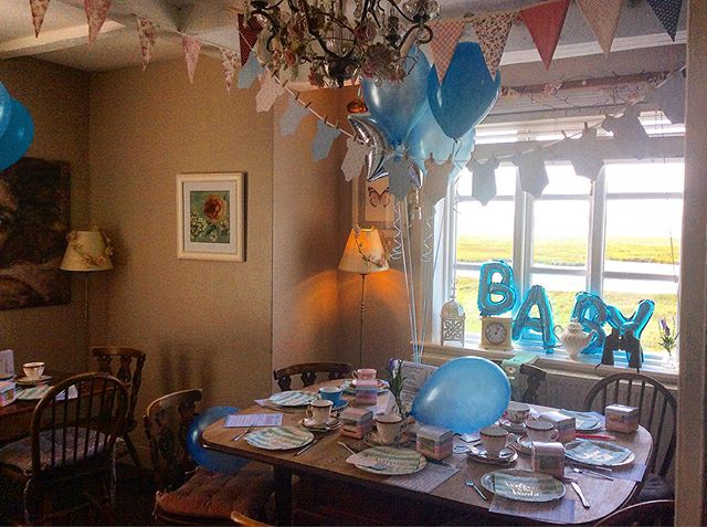Baby shower heaven at The Little Teahouse today. 💙 You can dress our upstairs room if you wish or leave it with its original charm. 💙 Maximum party of 16 💙  #babyshower #littleteahouse #afternoontea #party #parkgate #wirral #cheshire #vintagetearoom #teaandcake #coffeeandcake #homemadecakes