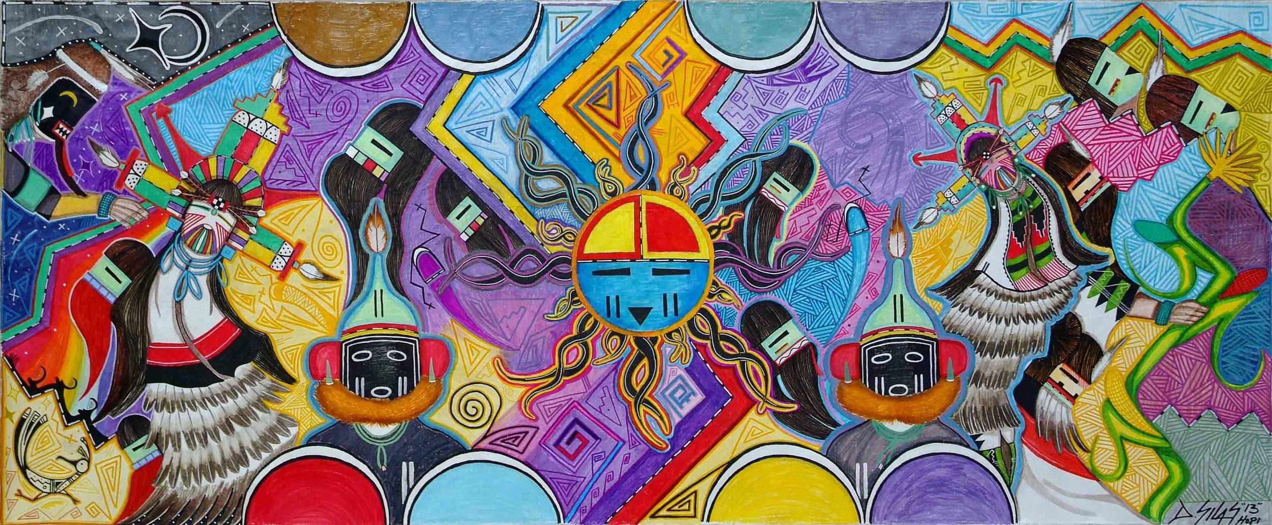 Summertime (DRawing No. 17), Hopi Native American collaboration