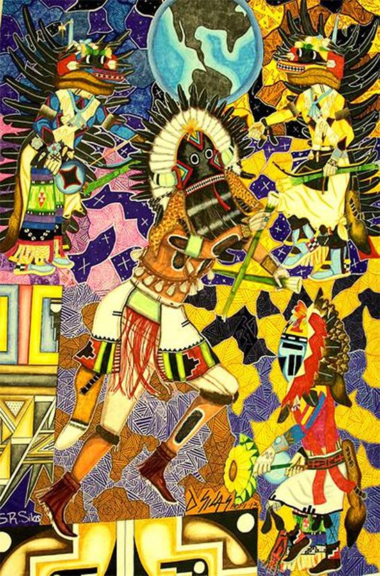 Protecting Earth (DRawing No. 19), Hopi Native American collaboration