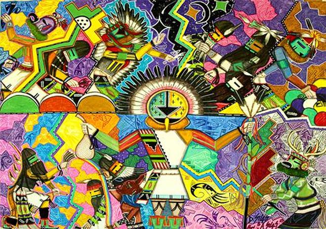 Prayer For Good Life (DRawing No. 20), Hopi Native American collaboration