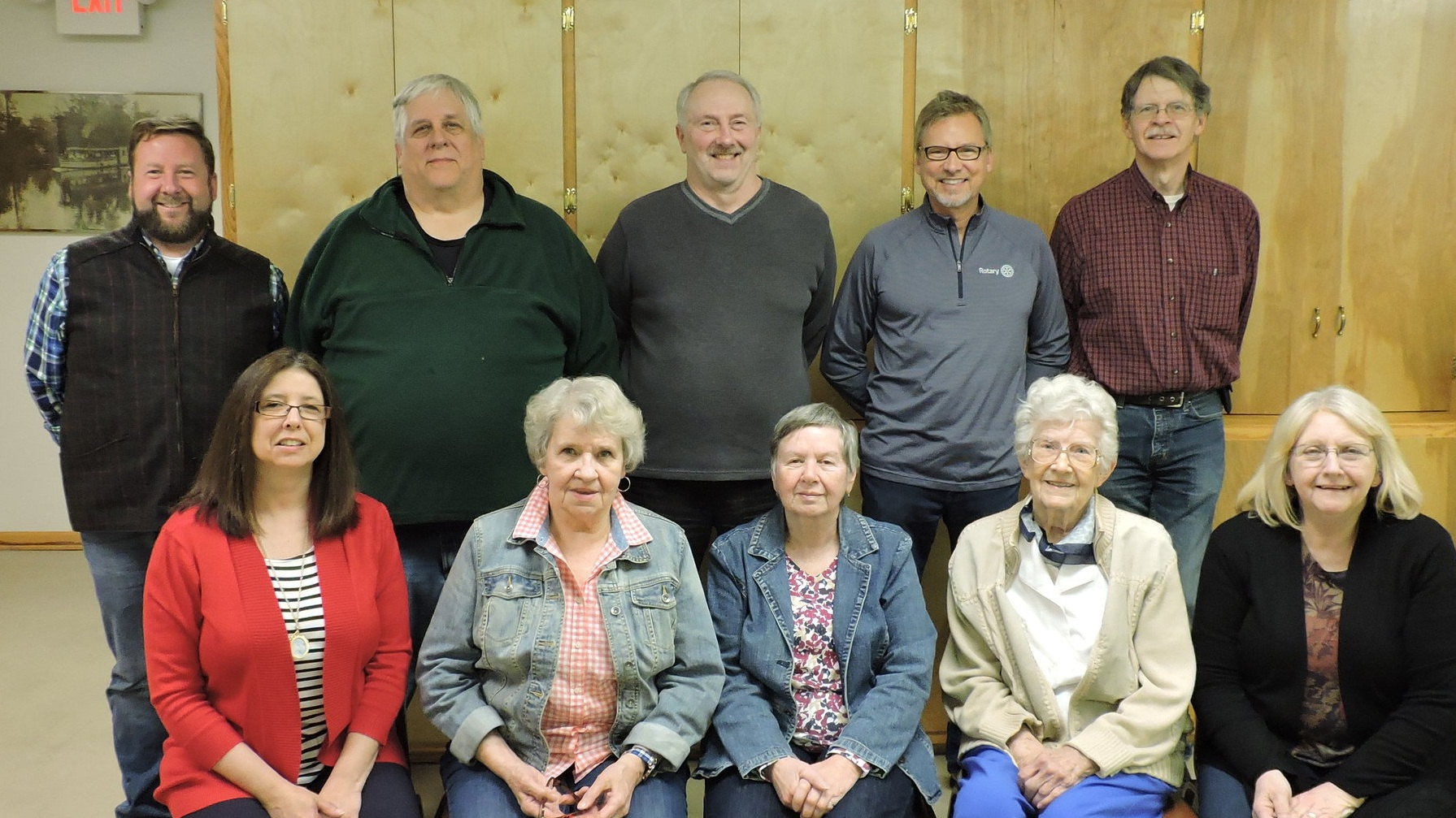 Image taken at April 9, 2019 Board of Directors Meeting                                 Standing: Scott Young, Marc Hettig, Greg Krell, David Moss, Fred Munchow Jr.                             Seated: Kandyce Hays, Clare Horneij, Carabeth Culby, Sally Williams, Cindy Young
