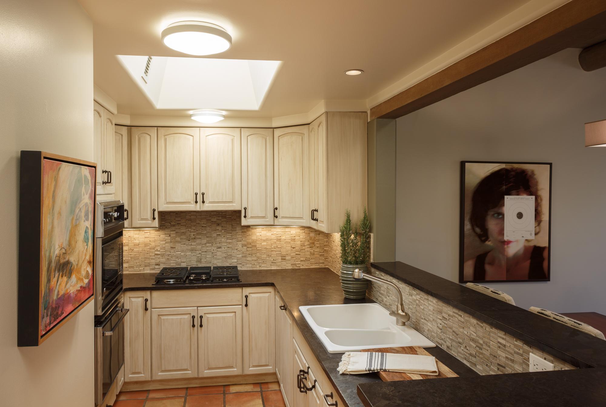 small kitchen design, remodel, style, Santa Fe
