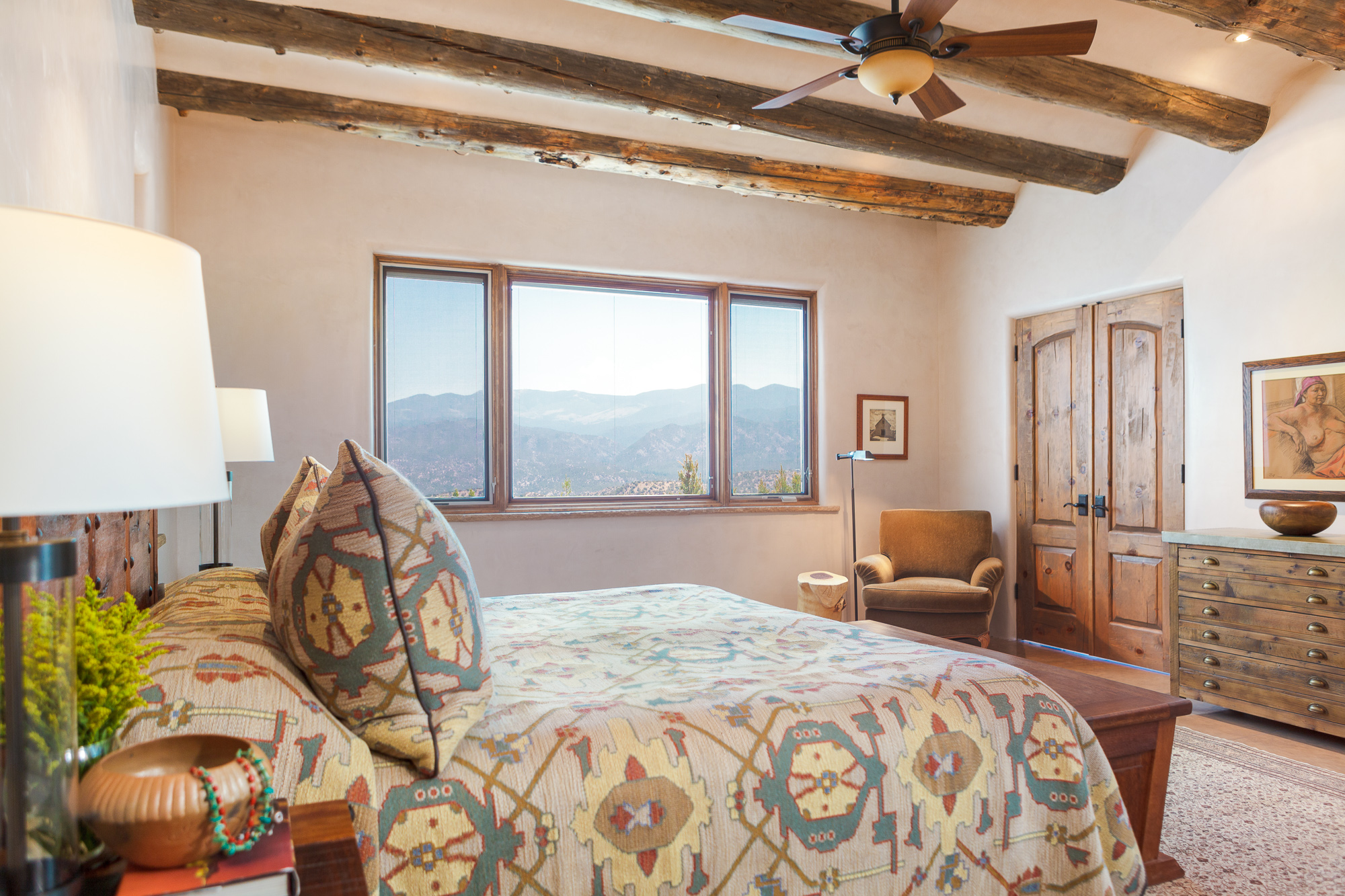 Modern Santa Fe Style Bedroom