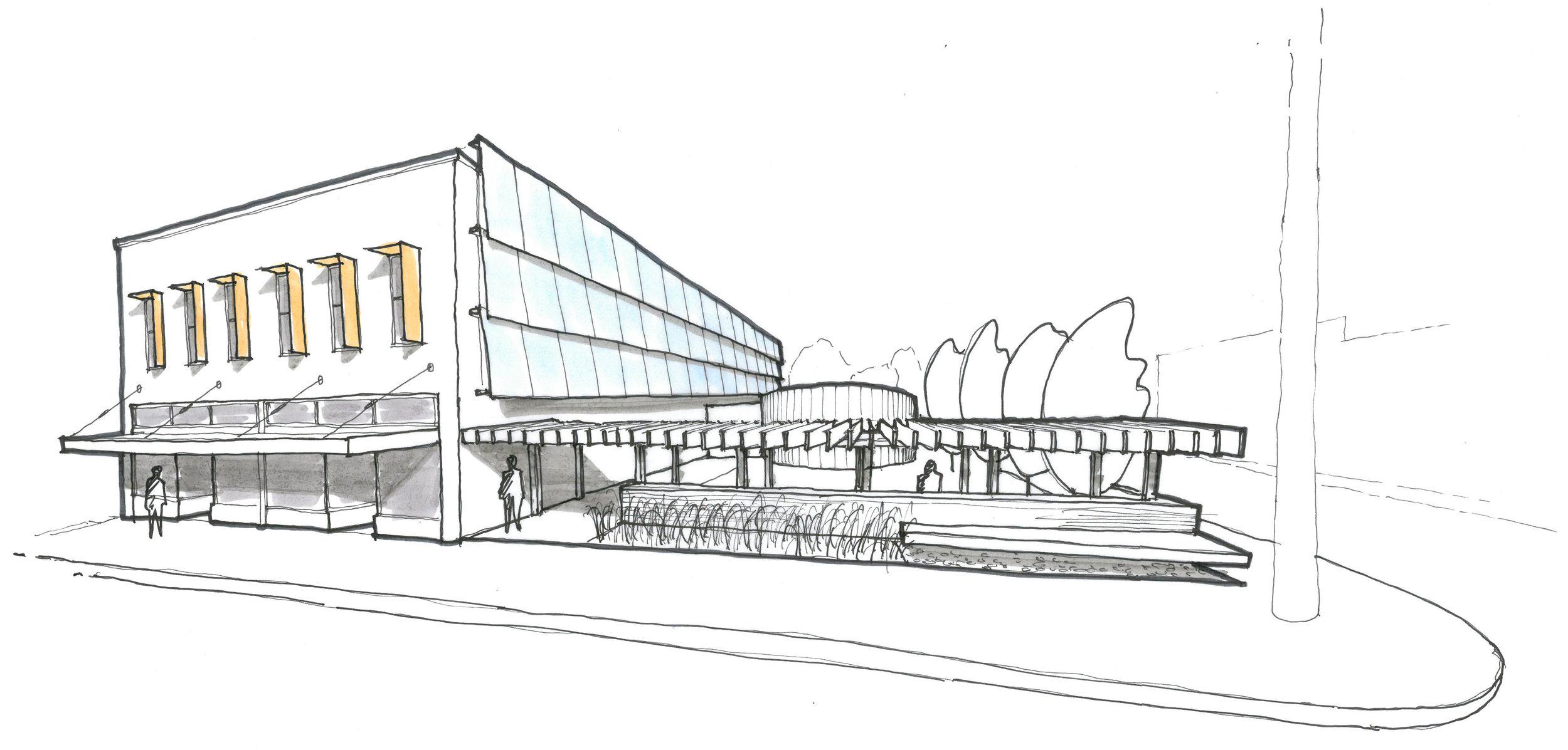 retail building sketch
