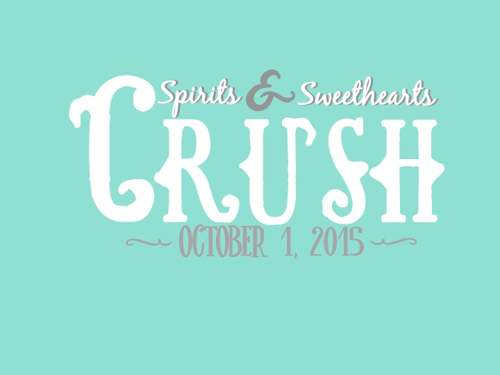"Front t-shirt design for Texas Spirits' ""Crush"" date event"