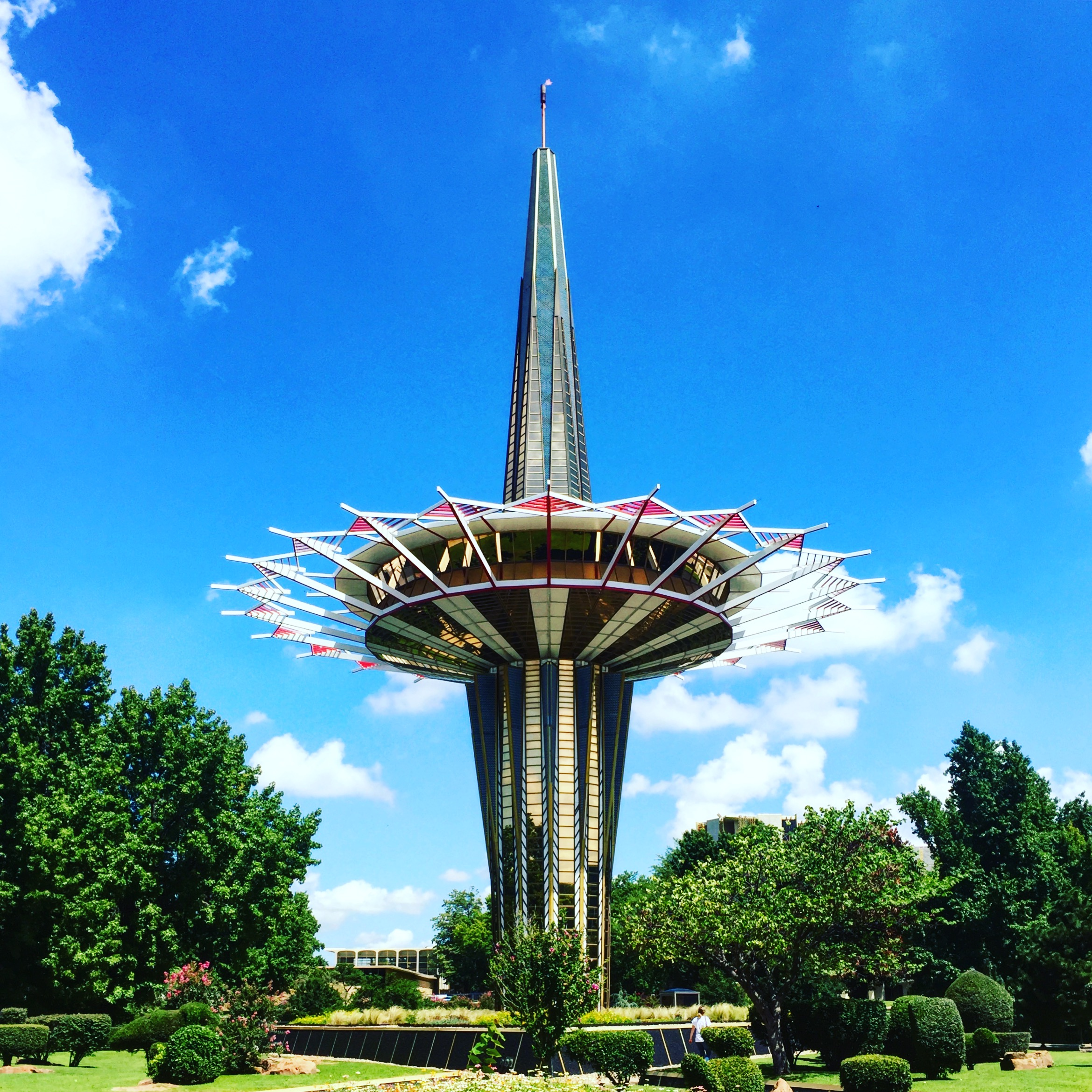The oddly futuristic yet referential architecture of Oral Roberts University.