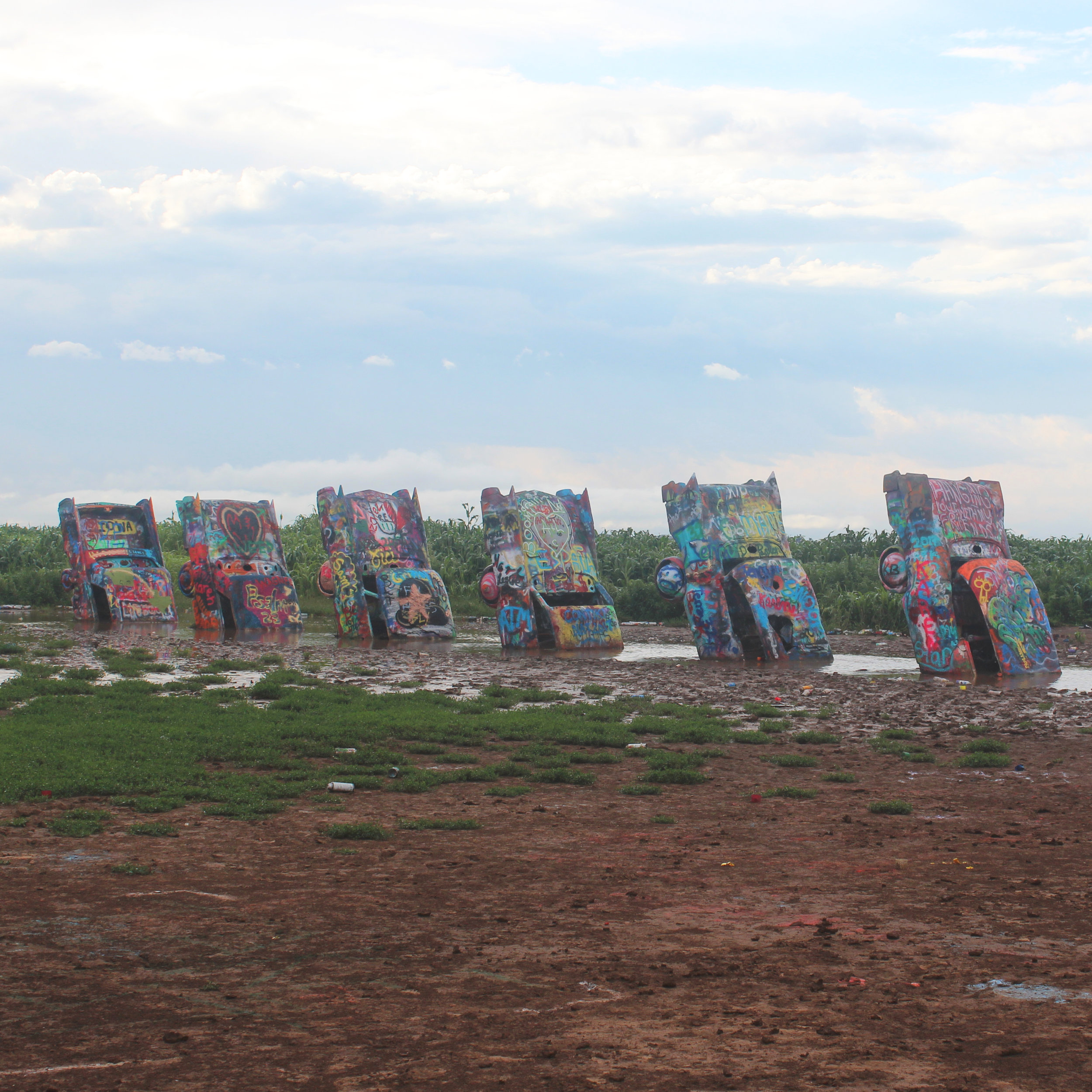 Cadillac canvases in Amarillo, TX.