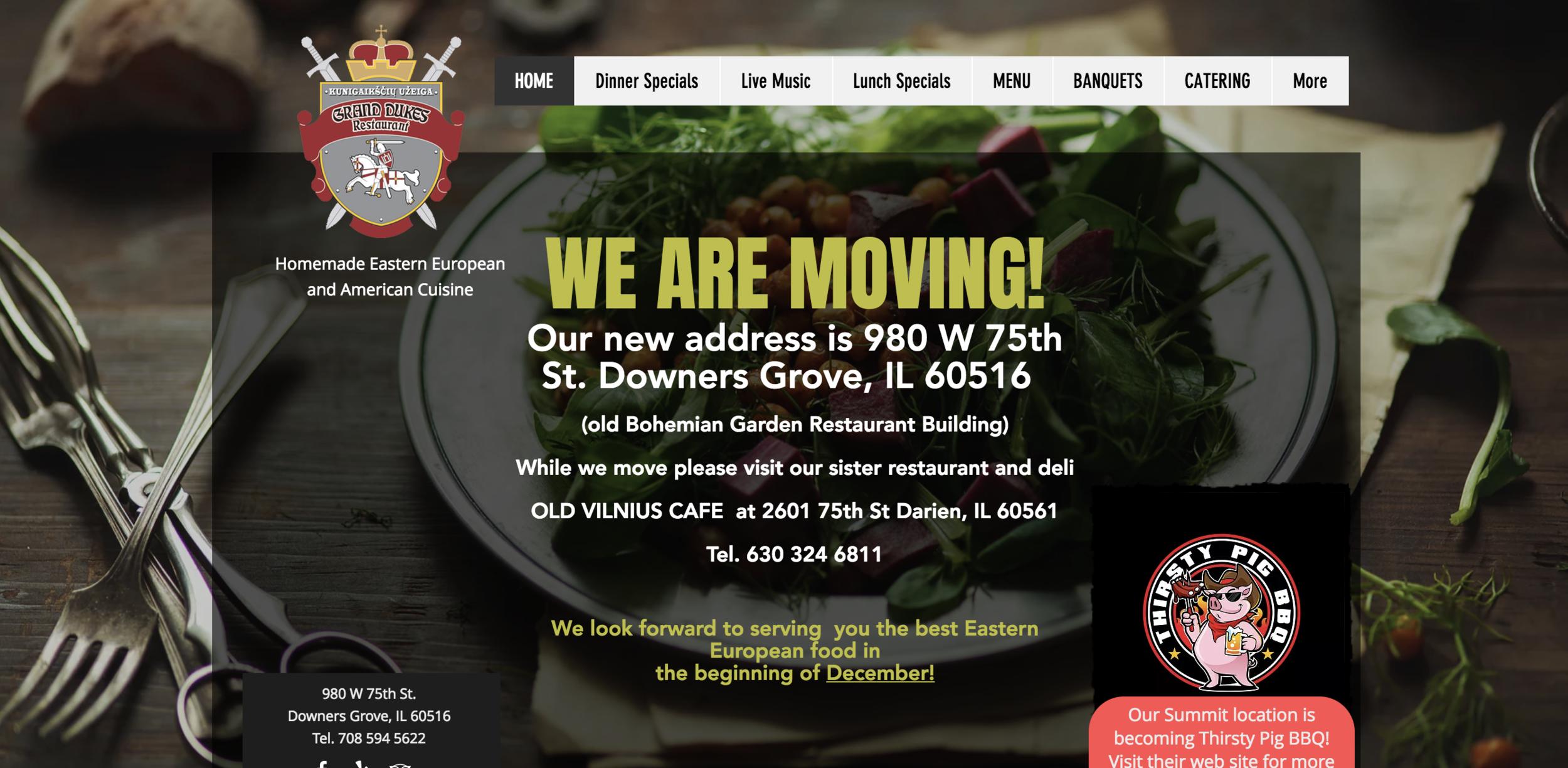 Duke's Eatery & Deli   980 W. 75th St, Downers Grove, IL 60516   630.324.6811