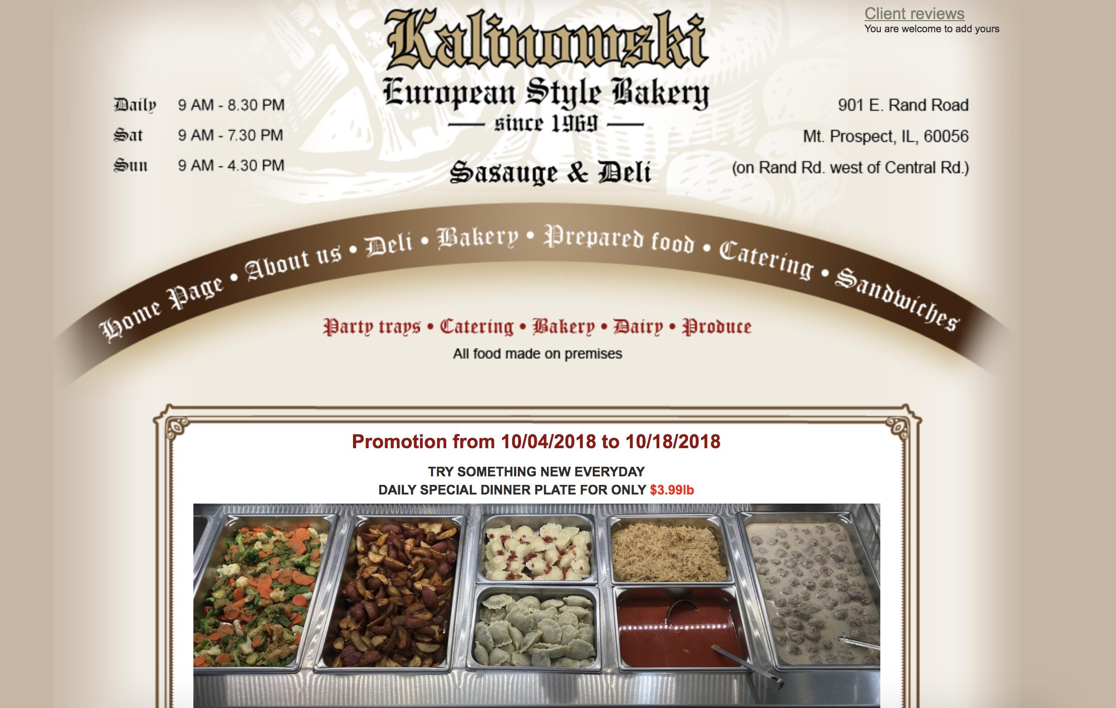 Kalinowski Deli   901 E. Rand Road, Mt. Prospect, IL 60056   847.255.5751