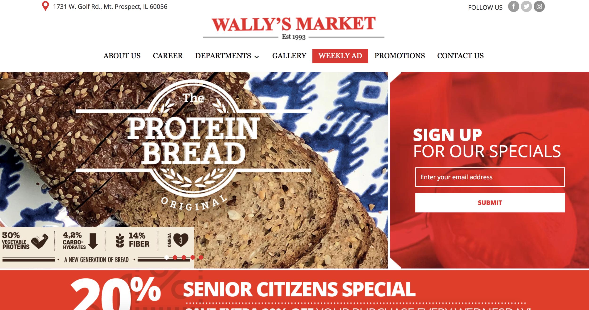 Wally's Market | 1731 W. Golf Rd., Mt. Prospect, IL 60056 | 847.364.2929