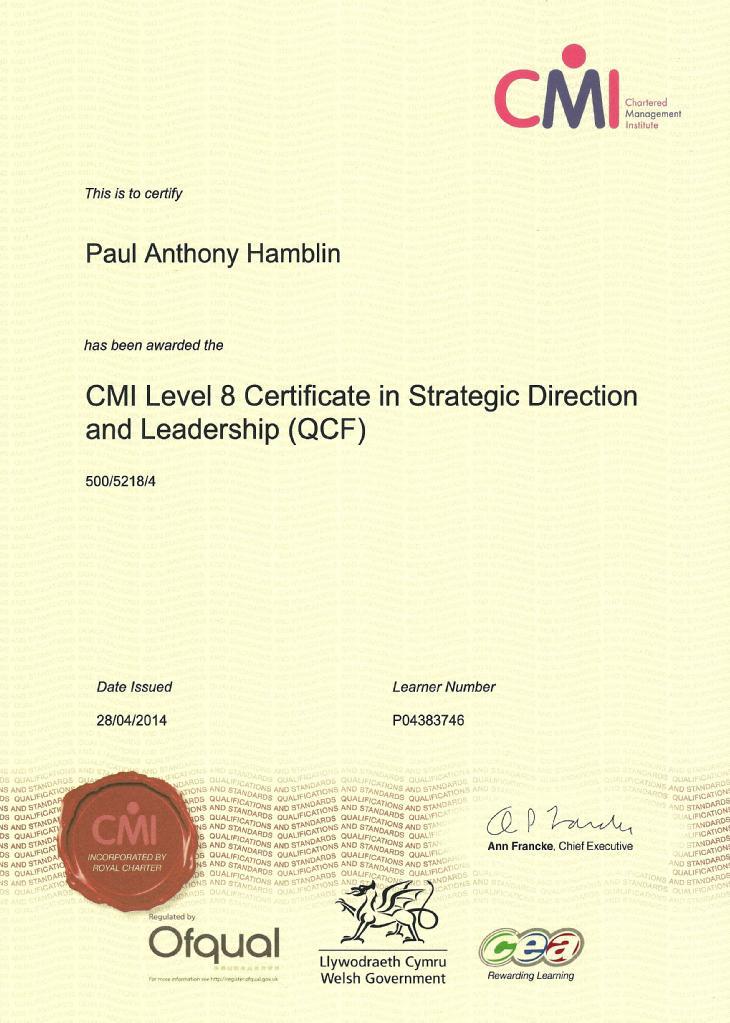 CMI Level 8