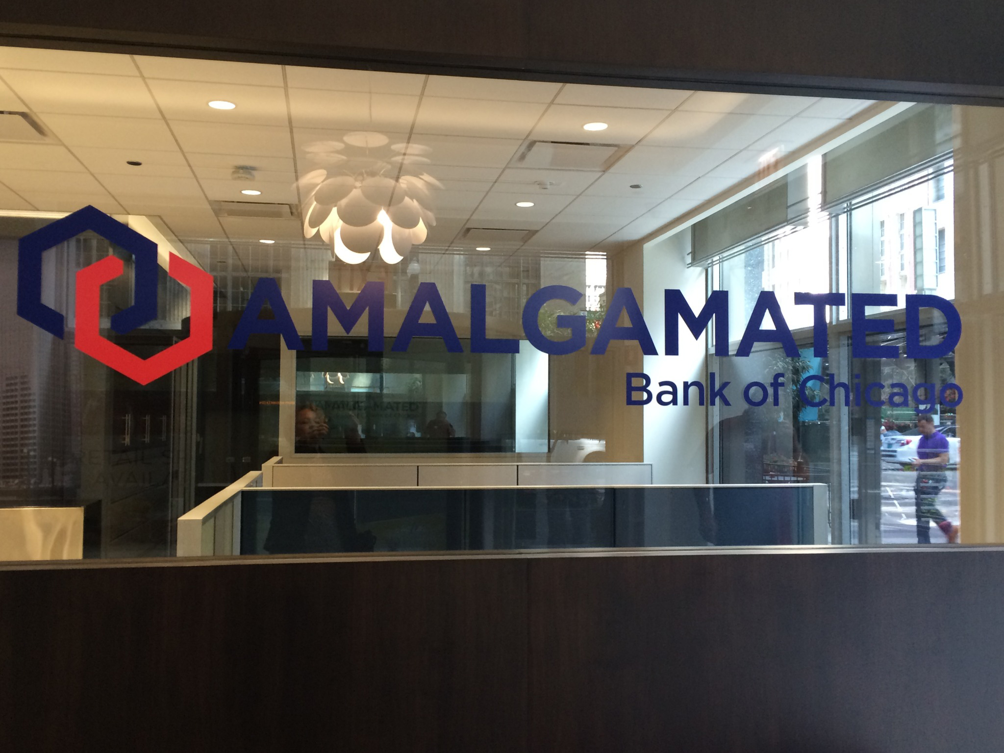 View from main office of Amalgamated Bank of Chicago