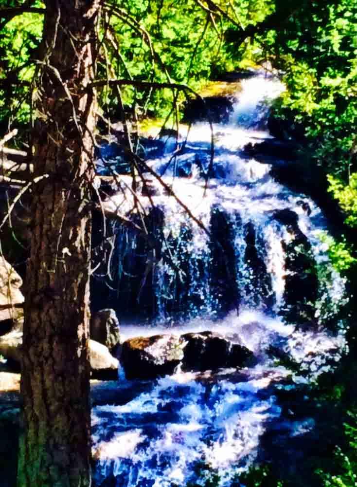 Whitney Falls, California, July 2014