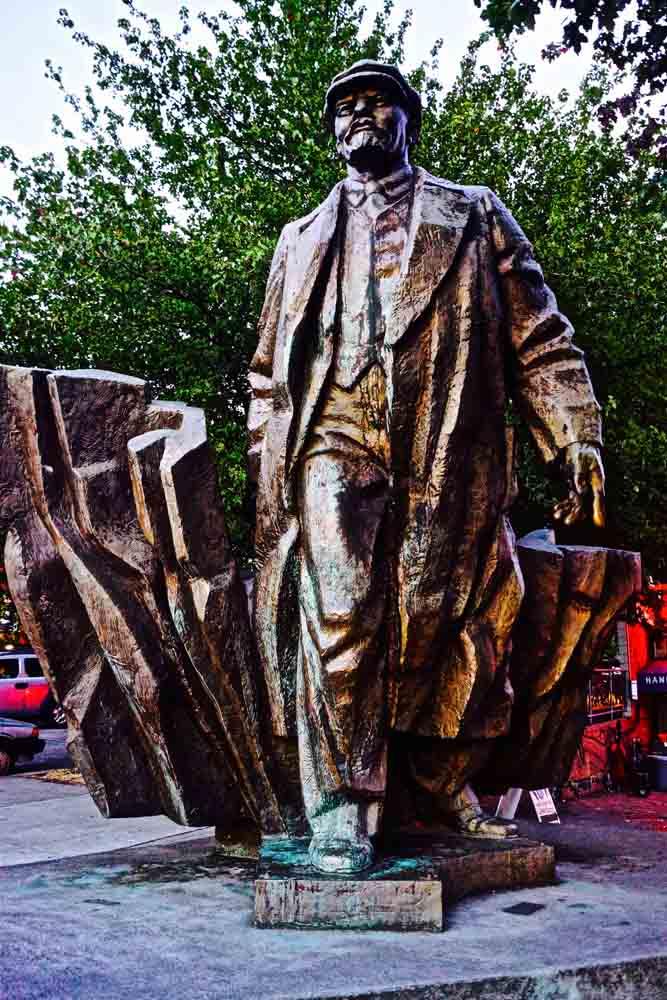 Lenin statue, Seattle, September 2012
